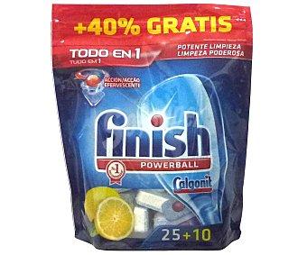 FINISH Todo en 1 Lavavajillas máquina limón Bolsa 25+10 dosis