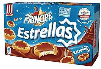 Príncipe Galletas Estrellas Rellenas de Leche y Cubiertas de Chocolate 150 gramos