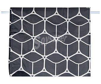Actuel Cortina de ducha 180x200cm. 100% poliéster color negro estampado Geométrico ACTUEL.