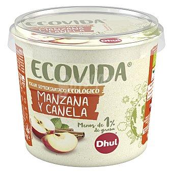 Dhul Yogur semidesnatado de manzana y canela ecológico Dhul Ecovida 250 g