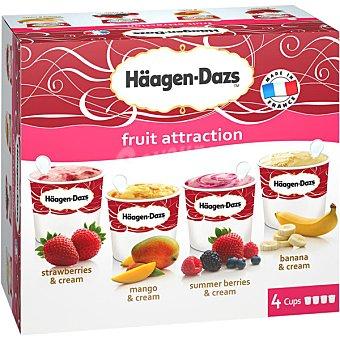 HAAGEN-DAZS Fruit Collection Tarrinas de helado sabores fruta 4 unidades 100 ml estuche 400 ml 4 unidades 100 ml