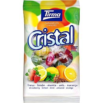 TIRMA Cristal Caramelos surtidos sabor fresa limón menta anís y naranja bolsa 150 g Bolsa 150 g