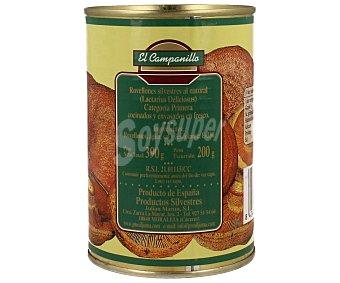 EL CAMPANILLO Rovellones enteros silvestres al natural 200 gramos
