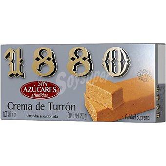 1880 turrón blando 0% azúcares añadidos Calidad Suprema tableta 200 g