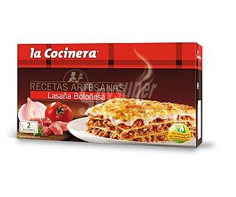 La Cocinera Lasaña de carne Caja 530 gr
