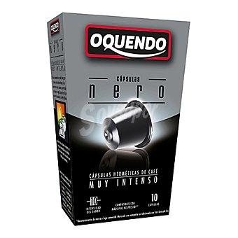 "Oquendo Cápsulas de café muy intenso ""nero"" 10 unidades"