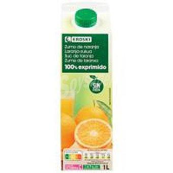 Eroski Zumo de naranja sin pulpa Brik 1 litro