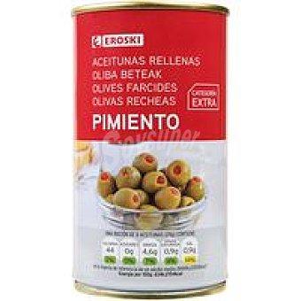 Eroski Aceitunas rellenas de pimiento Lata 150 g