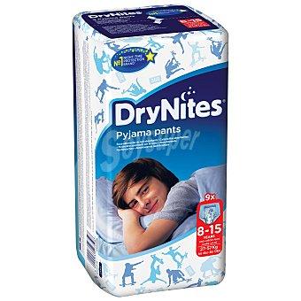 Dry Nites Pañales noche niño paquete (8-15 kg) 9 unidades
