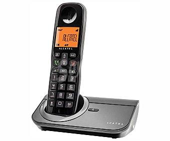 ALCATEL SIGMA 260 Teléfono inalámbrico Detc Negro, identificador de llamadas, agenda 50 números, función manos libres, rellamada del último número marcado.
