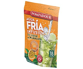 Pompadour Infusión fría de té verde-maracuya Bolsa 18 unid