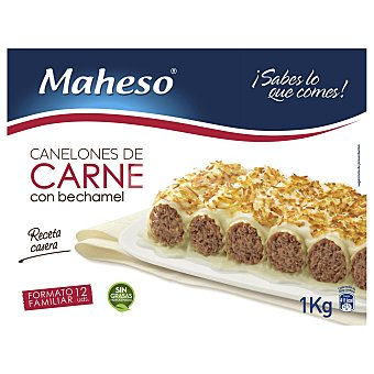 Maheso Canelones de carne con bechamel 1 kg