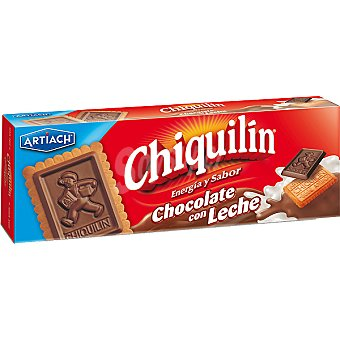 CHIQUILÍN Galletas con tableta de chocolate con leche Caja 150 g