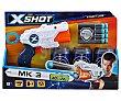 Pistola lanzadora de dardos con 3 latas y 6 dardos incluidos, xshot  Xshot