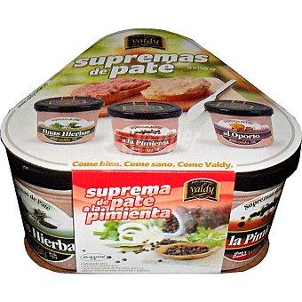 Valdy Surtido de patés Pack 3 envases 110 g