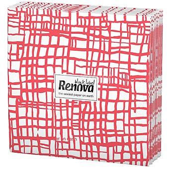 Renova Servilletas Black Label abstracta roja paquete 12 unidades Paquete 12 unidades