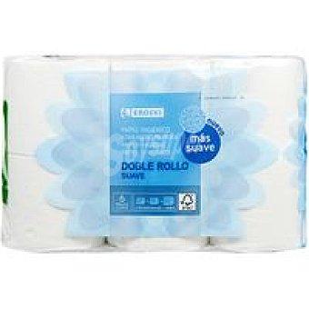 Eroski Papel higiénico suave doble rollo 12 rollos