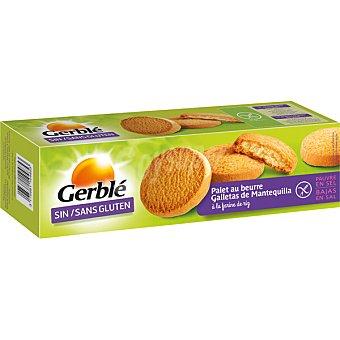 GERBLE Galletas de mantequilla bajas en sal sin gluten  caja de 175 g
