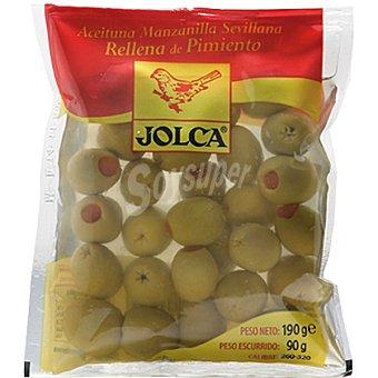 Jolca Aceitunas rellenas de pimiento Bolsa 90 g neto escurrido