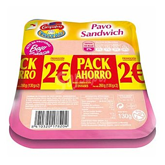 Pavofrío Campofrío Pavo sándwich Pack de 2x135 g
