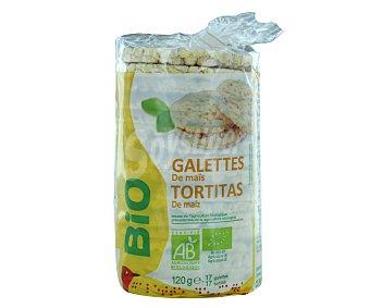 Auchan Tortitas de maíz ecológicas 120 gramos