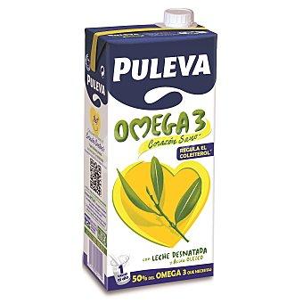 PULEVA Preparado lacteo con leche desnatada y Omega  3 envase 1 l