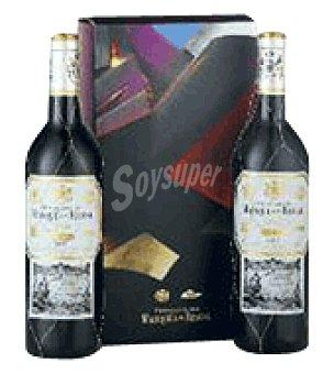 Marqués de Riscal Estuche cartón con 2 botellas de vino d.o.ca. Rioja 75 cl