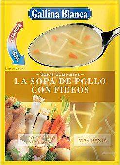 Gallina Blanca Sopa de pollo y verduras con fideos 96 g