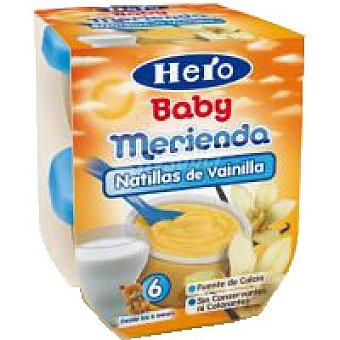 Hero Merienda de vainilla Pack 2x130 g
