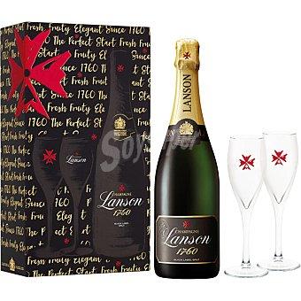 BLACK Champagne black label brut botella 75 cl + dos copas Botella 75 cl