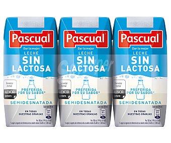 Pascual Leche de vaca semidesnatada sin lactosa 200 ml