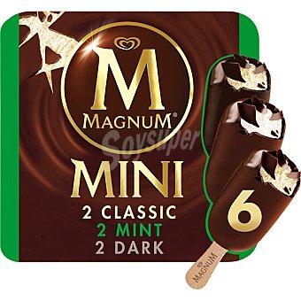 Magnum Frigo Helado surtidos Classic, Dark y Mint Mini 6 unidades (360 ml)