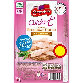 Campofrío Cuidat+ fiambre de pechuga de pollo braseado Envase 80 gr