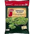 Espinacas en hojas miniporciones bolsa 750 g Findus