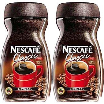Nescafé Café soluble natural Classic Pack 2 frasco 200 g