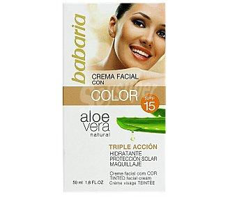 Babaria Crema Facial Hidratante Aloe Color F-15 1 Unidad