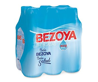 Bezoya Agua mineral pack 6 botellas x 50 cl