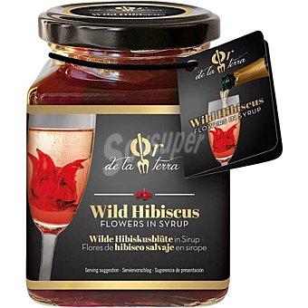 OR DE LA TERRA Flores de hibiscus salvaje en sirope para cocktail y bebidas 8 unidades Frasco 285 g