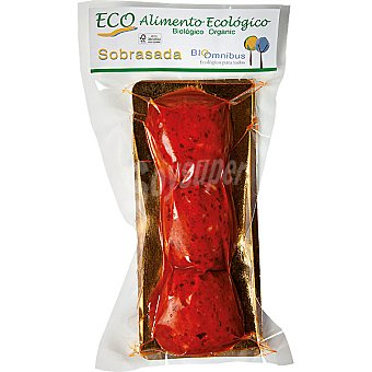 BIOOMNIBUS Sobrasada 3 medallones ecologica  envase 100 g