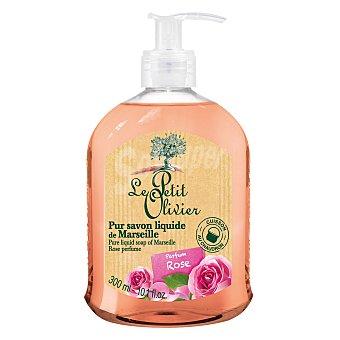 Le Petit Olivier Jabón líquido de rosa perfumada 300 ml