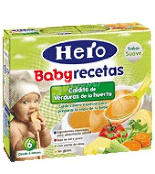 Hero Baby Caldito de verduras de la huerta Recetas
