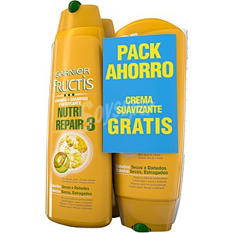 FRUCTIS champú fortificante Nutri Repair 3 pack 2 frasco 300 ml