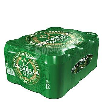 Estrella Levante Cerveza rubia nacional clásica Pack 12 latas 33 cl