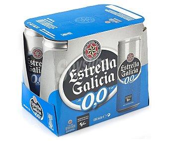 Estrella Galicia Cerveza rubia sin alcohol 0% Lata pack 6 x 330 cc - 1980 cc