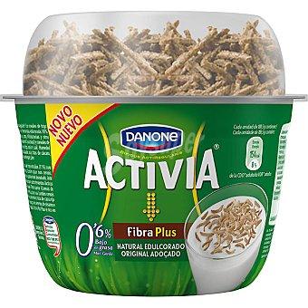 Danone Activia Yogur natural edulcorado con fibra Danone 180 g