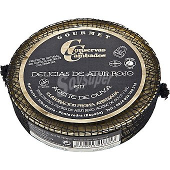 Conservas de cambados Delicias de atún rojo en aceite de oliva Lata 150 g neto escurrido