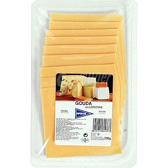 Hipercor Queso gouda en lonchas Envase 200 g