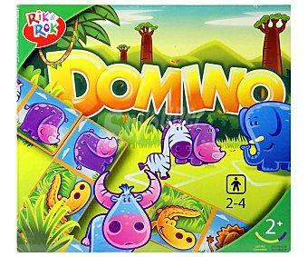 ROK & ROK Educativo y Divertido Juego de Dominó con Ilustraciones de Animales. De 2 a 4 Jugadores 1 Unidad