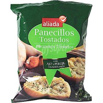 Aliada panecillos tostados con ajo aceite y perejil bolsa 150 g