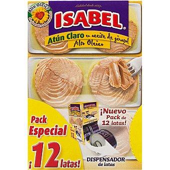 Isabel Atún claro en aceite de girasol alto oleico 12 latas de 52 g